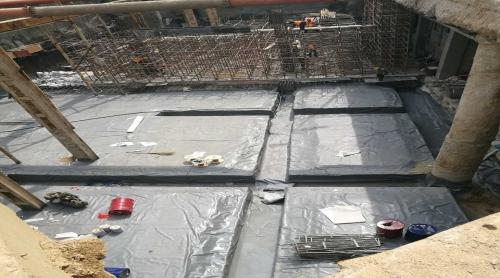 青岛地铁基坑聚脲防水工程