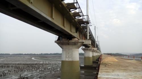 湛江东海通明湾特大桥桥梁桥墩聚脲防水防护