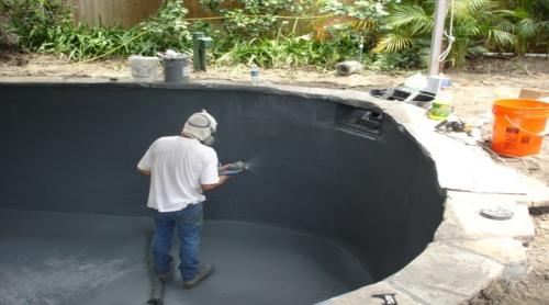 观赏鱼池聚脲防水施工