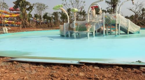 云南西双版纳某水上乐园聚脲防水工程
